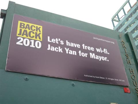 Victoria Street billboard backs Jack