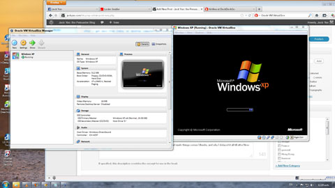 Windows XP VM